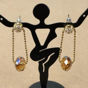 Swarovski Swan Crystal Pierced Earrings